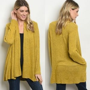 NEW Heathered Cardigan - Mustard